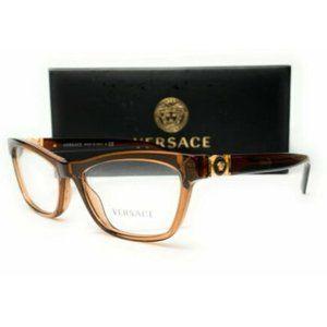 Versace Women's Transparent Brown Eyeglasses!